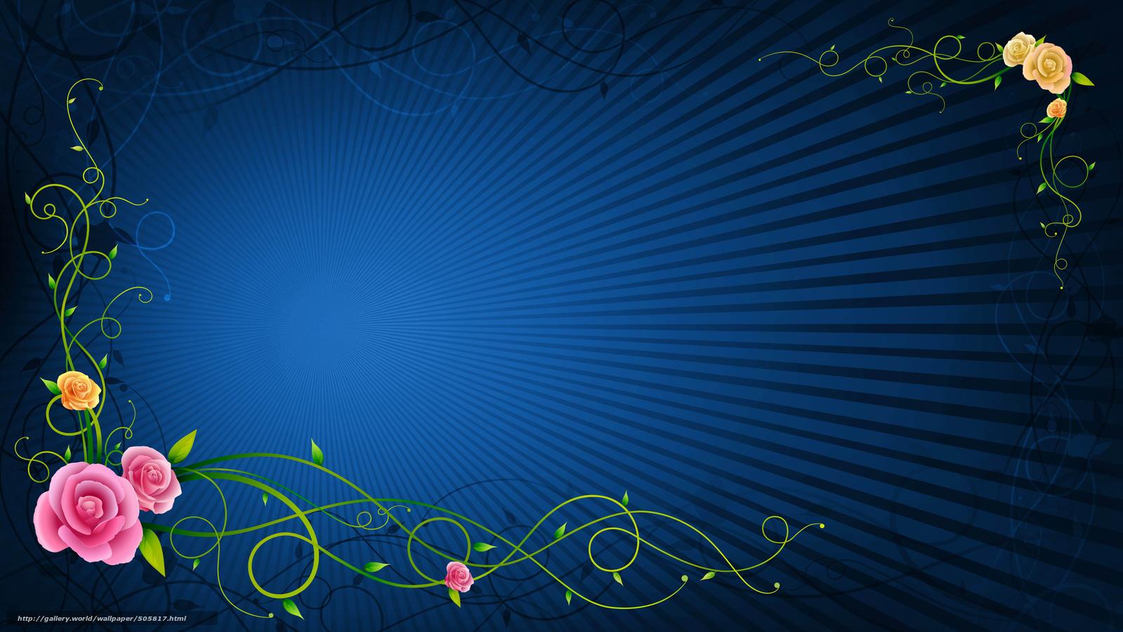 Download Wallpaper 3d, Background, Rose Free Desktop