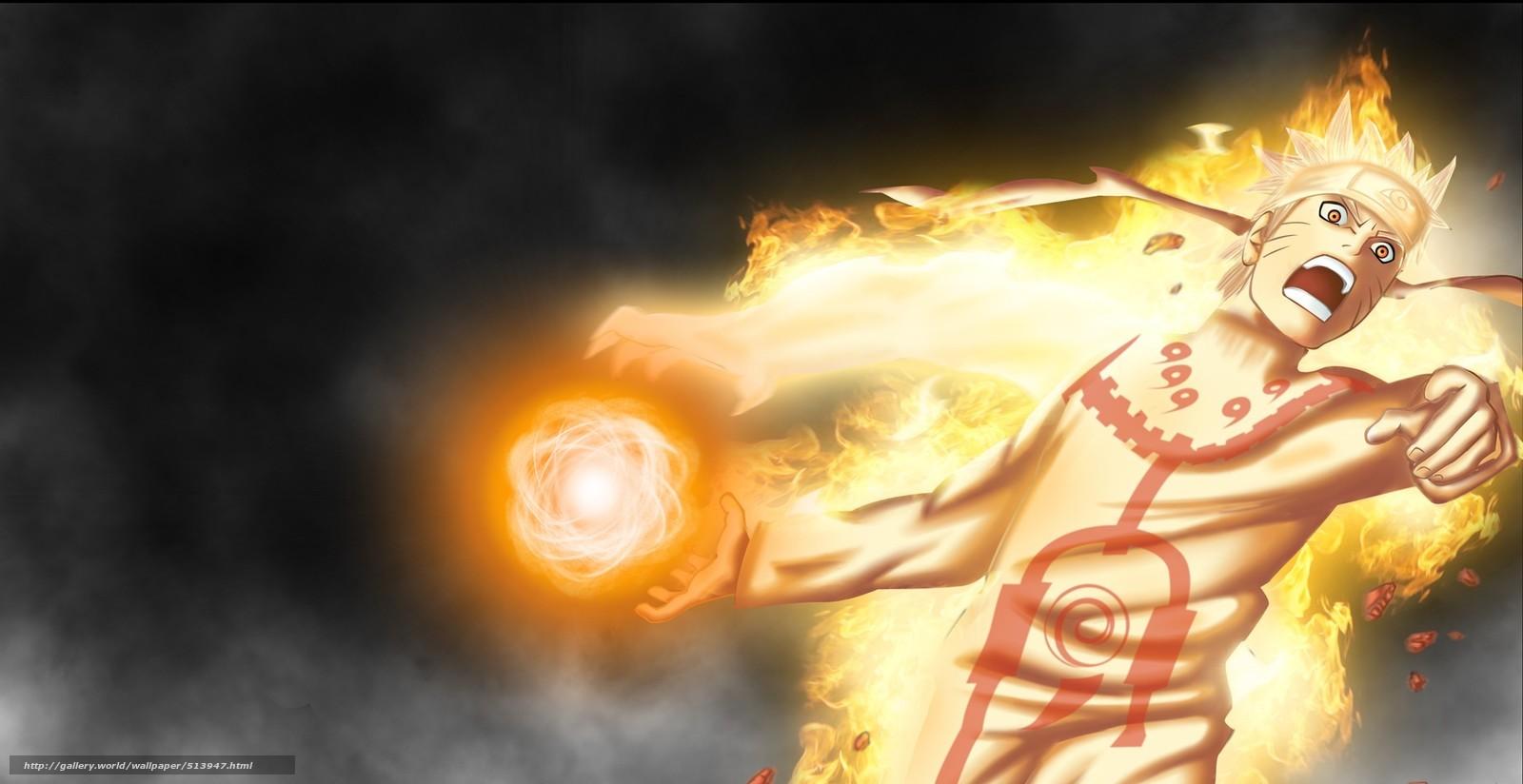 naruto, uzumaki, modo bijuu, anime, Naruto Shippuden, papel de parede, manga, hitayate, cabelo loiro, logotipo Konohagakure no sato, bijuu dama, chakra, chama, olho amarelo, Fria, Shinobi, Ninja