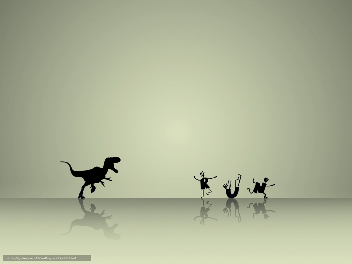 running with dinosaur wallpaper -#main