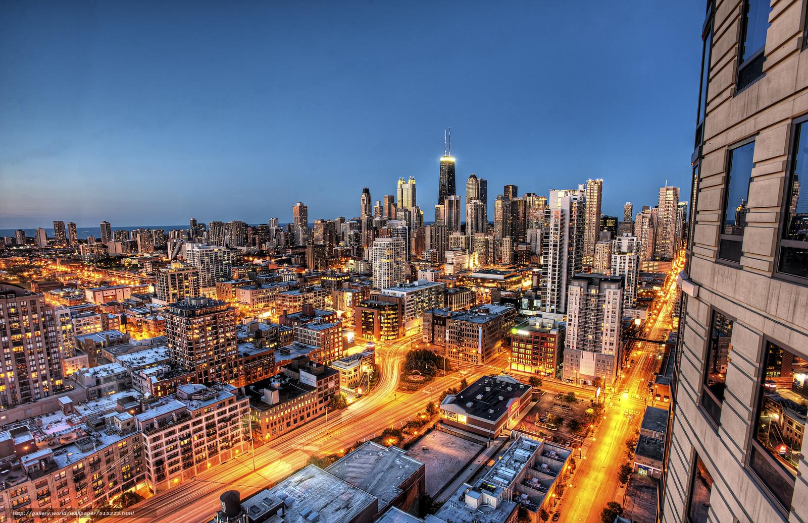 Descargar Gratis De Gran Altura Chicago Tarde Ciudad