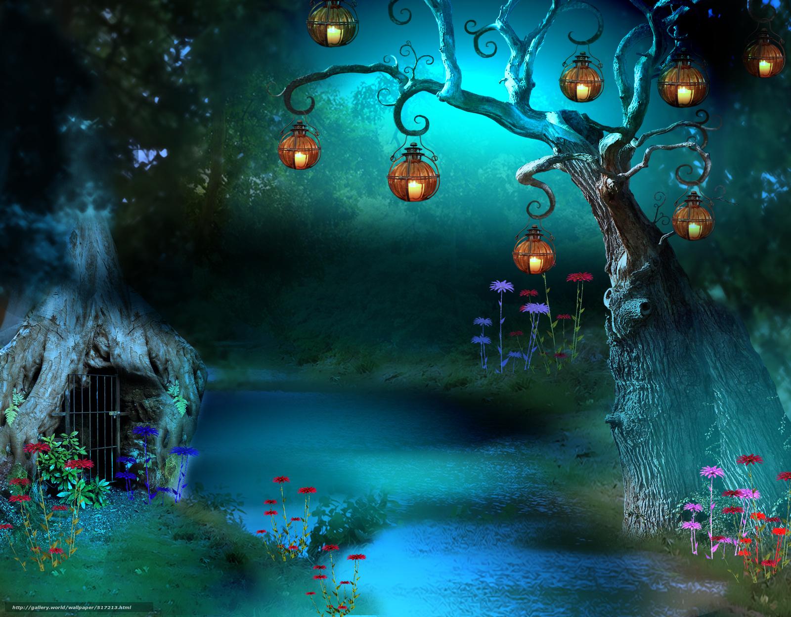 Scaricare gli sfondi fiume albero torcia 3d sfondi for Sfondi per desktop 3d