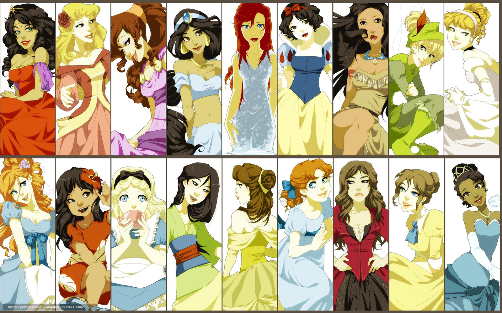 Download wallpaper disney cartoon characters free desktop - Female cartoon characters wallpapers ...