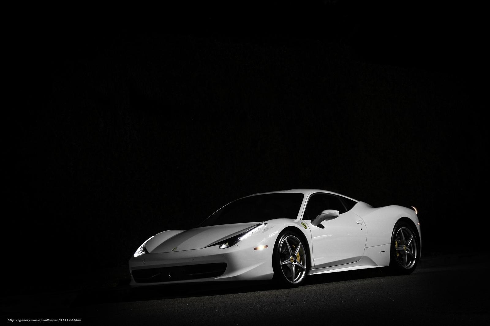 Download Red Black Ferrari 2048 X 2048 Wallpapers: Tlcharger Fond D'ecran Blanc, Italie, Phares, Ferrari