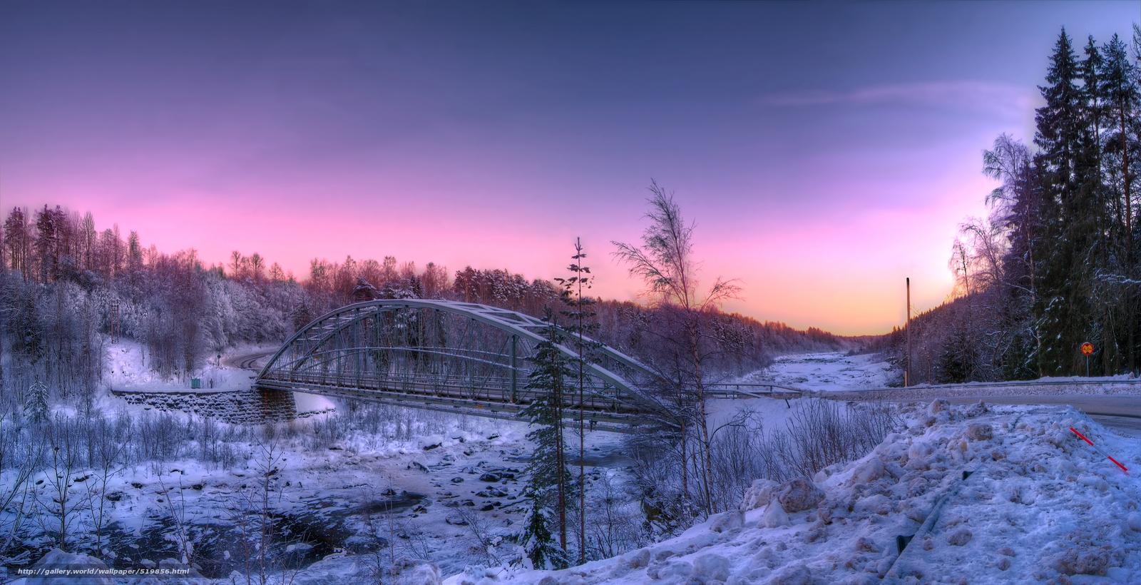 Scaricare gli sfondi norrland sweden inverno strada for Sfondi gratis desktop inverno