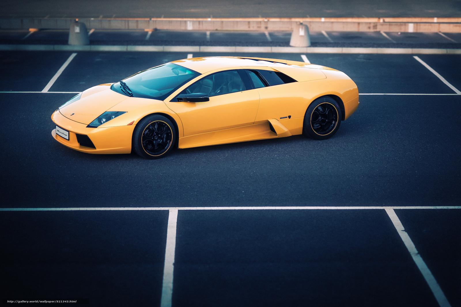Download Wallpaper Mursielago Lamborghini Yellow Lamborghini Free Desktop Wallpaper In The