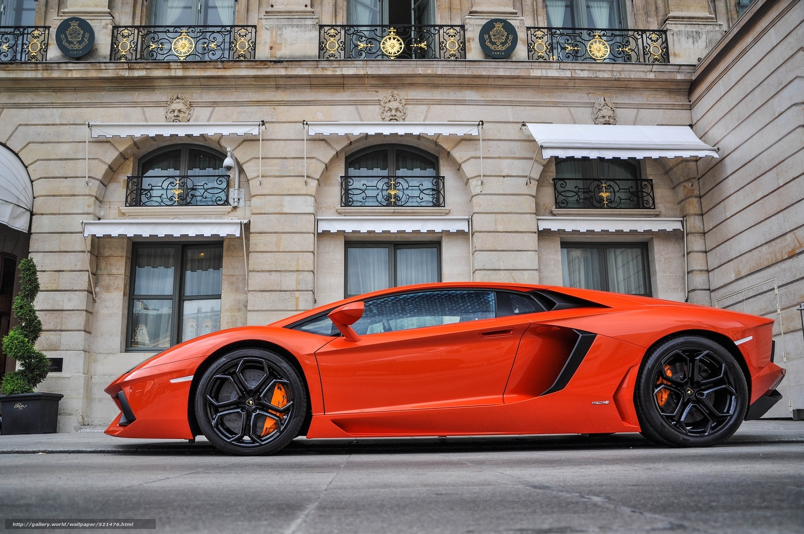 Download wallpaper orange,  building,  Lamborghini,  profile free desktop wallpaper in the resolution 2048x1360 — picture №521476