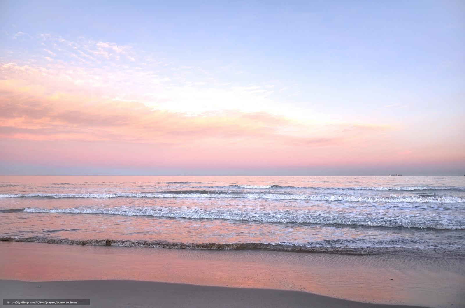 Tlcharger fond d 39 ecran lever du soleil mer cte flots for Fond ecran gratuit mer