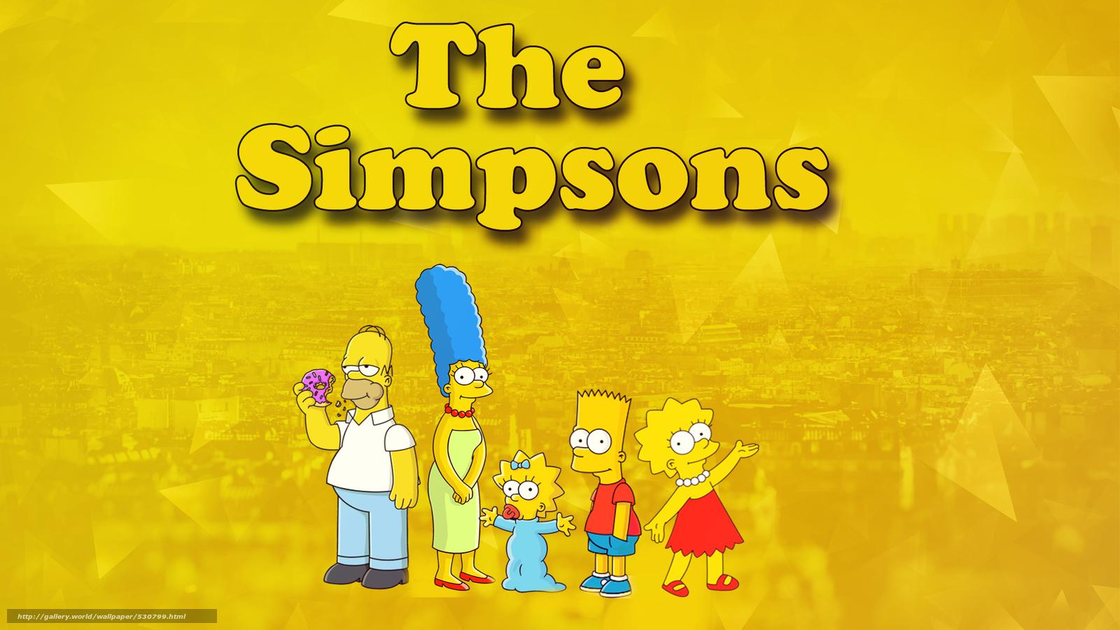 Download wallpaper Simpsons, Bart, Liza, Homer free desktop wallpaper ...