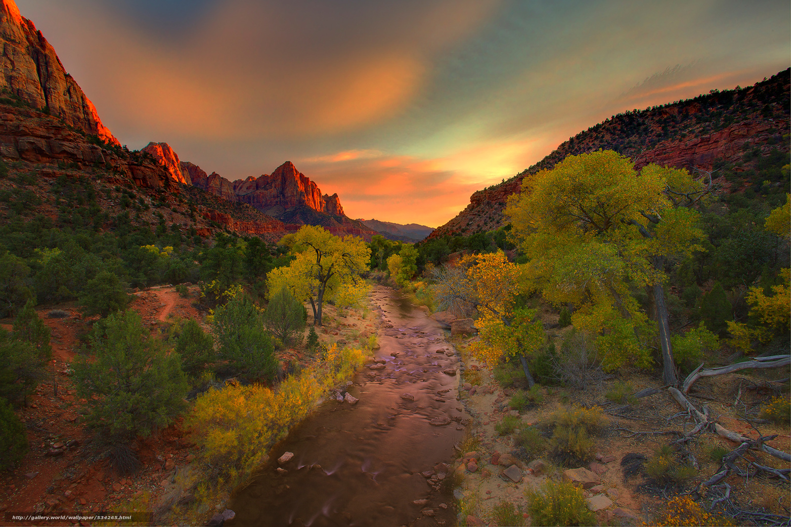 壁紙をダウンロード 見張りから広い視野 - 夜警,  ザイオン国立公園,  ユタ州 デスクトップの解像度のための無料壁紙 3000x2001 — 絵 №534265