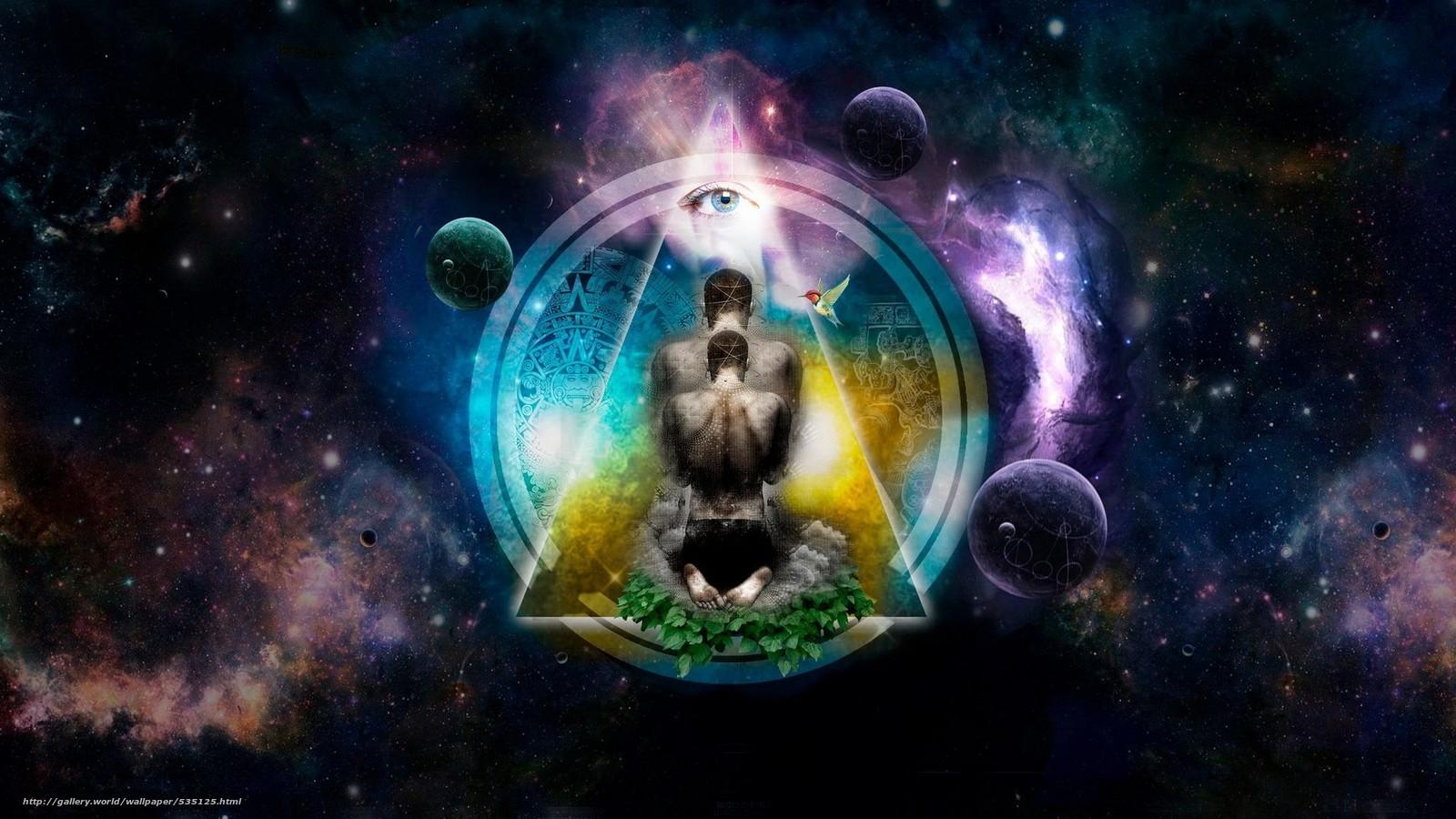 download wallpaper meditation space shine free desktop