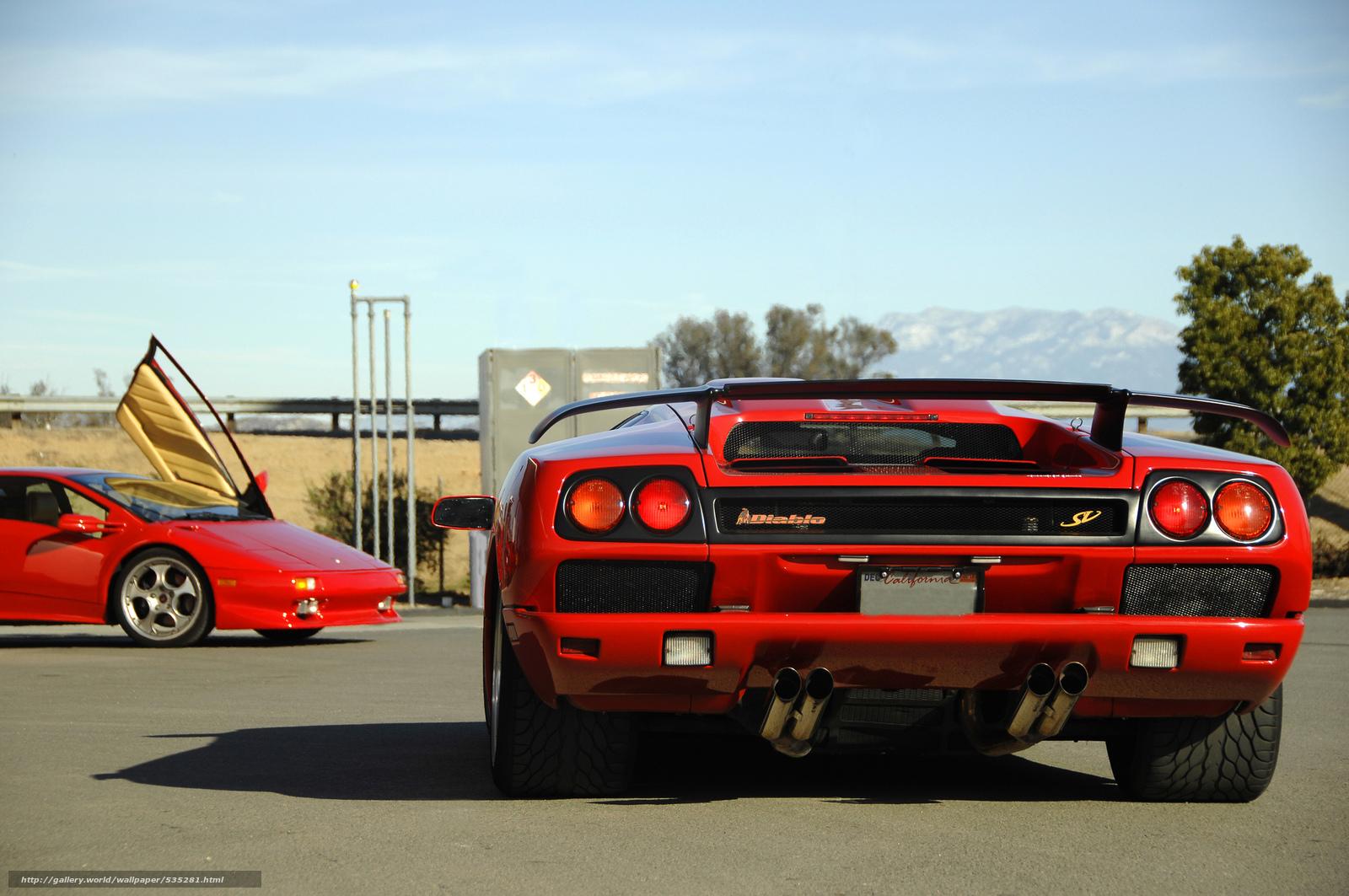 Скачать Lamborghini, ламборгини, гор…