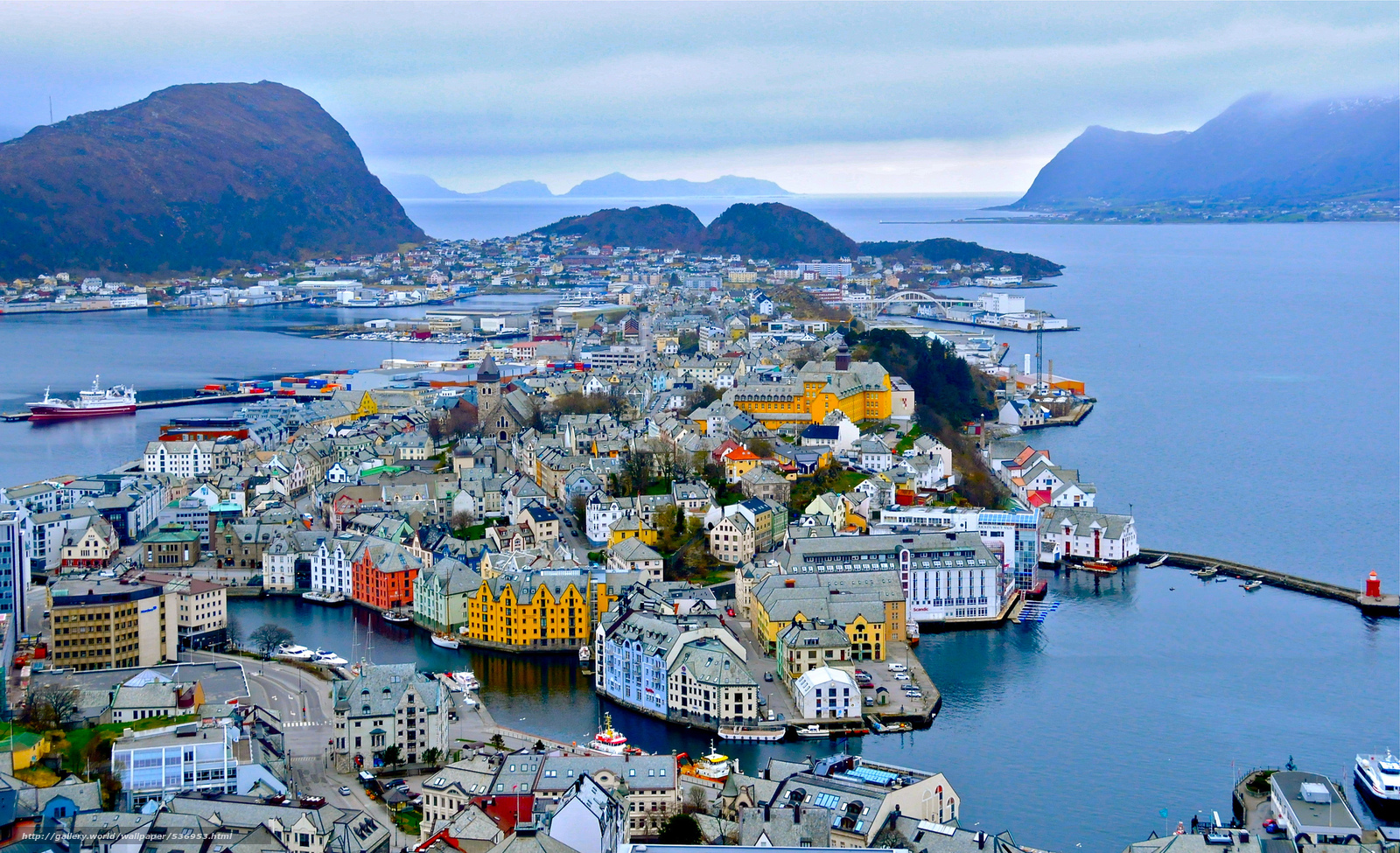Alesund Norway  city photo : 536953 overview alesund norway 2048x1248 www.GdeFon.ru