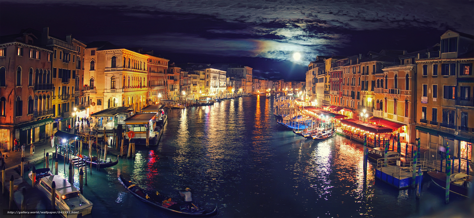Download wallpaper Italy, Venice, Grand Canal, night free desktop