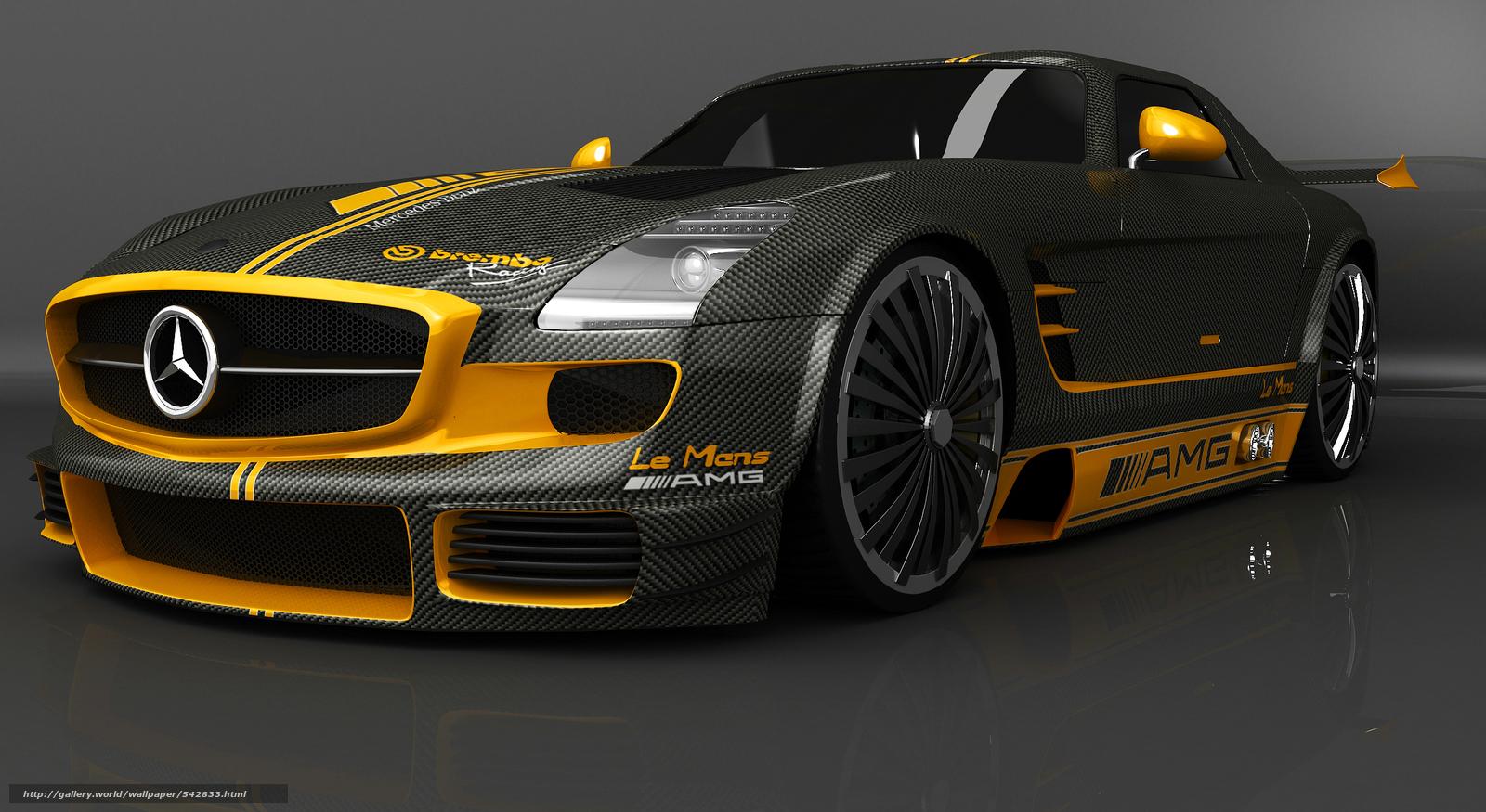 Download Wallpaper Mercedes Sls Racing Machine Car Free