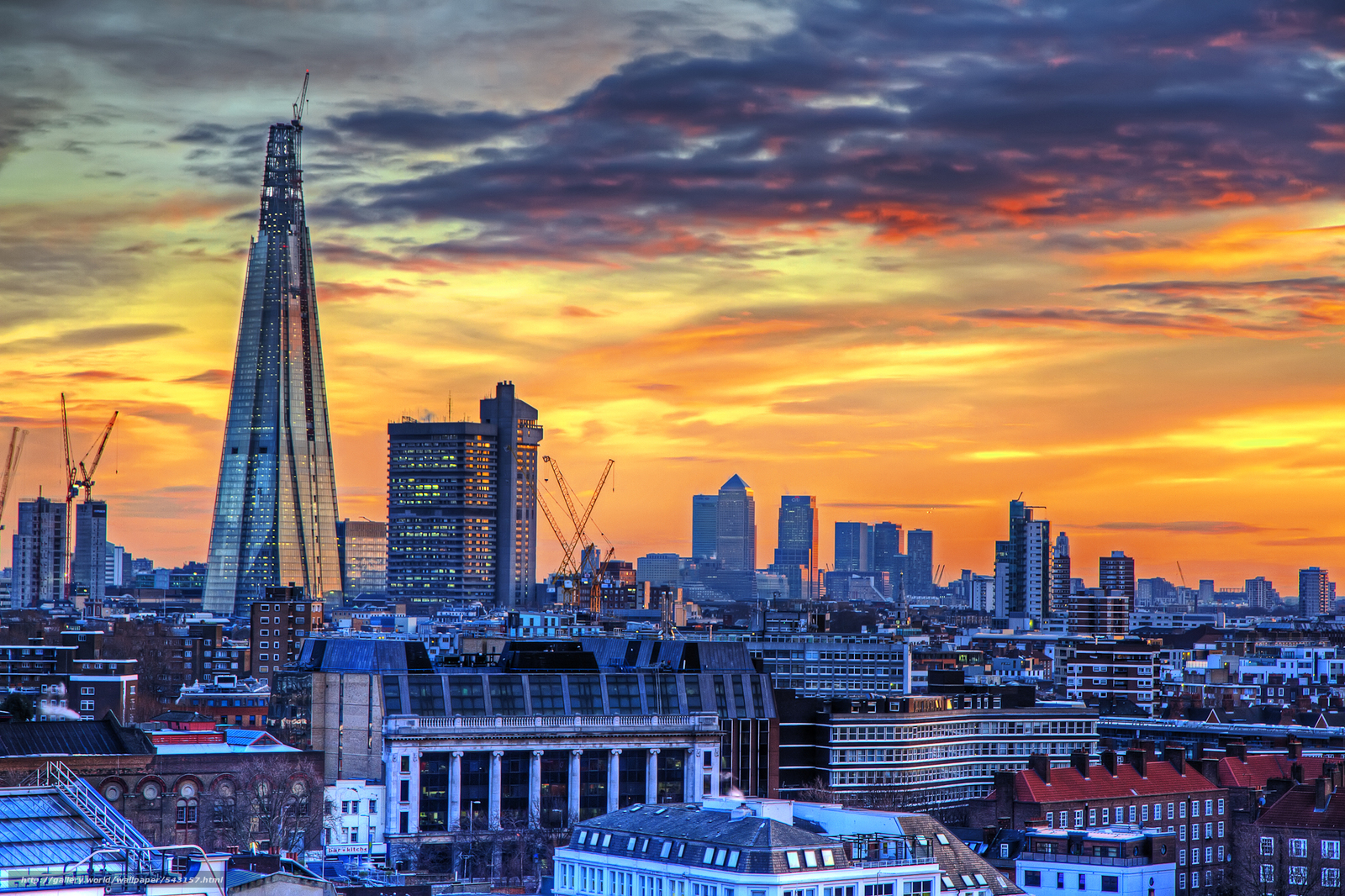 Download wallpaper london changing skyline city free for London cityscape wallpaper