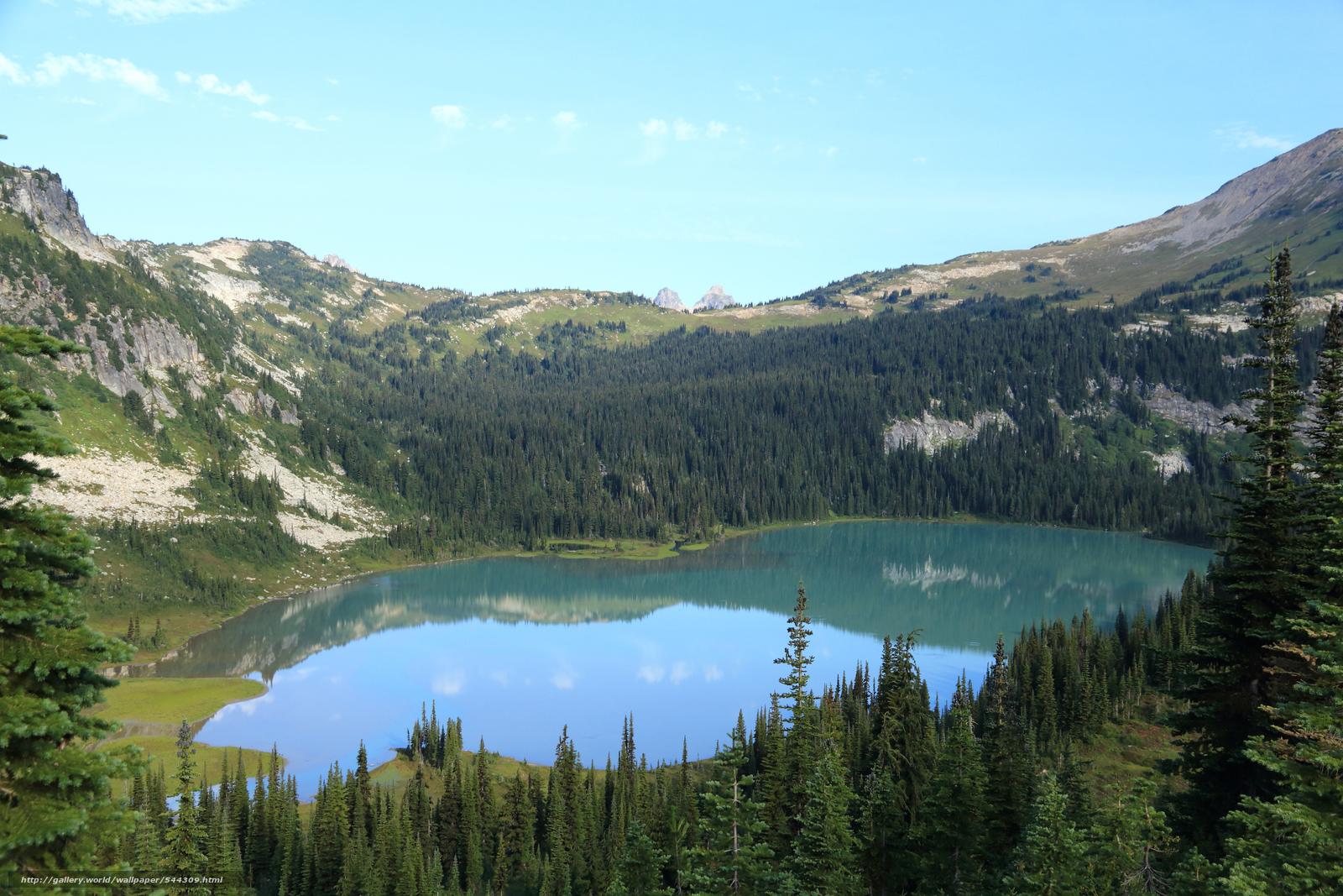Download wallpaper Lyman Lake, Cloudy Pass, Sitting Bull Mountain