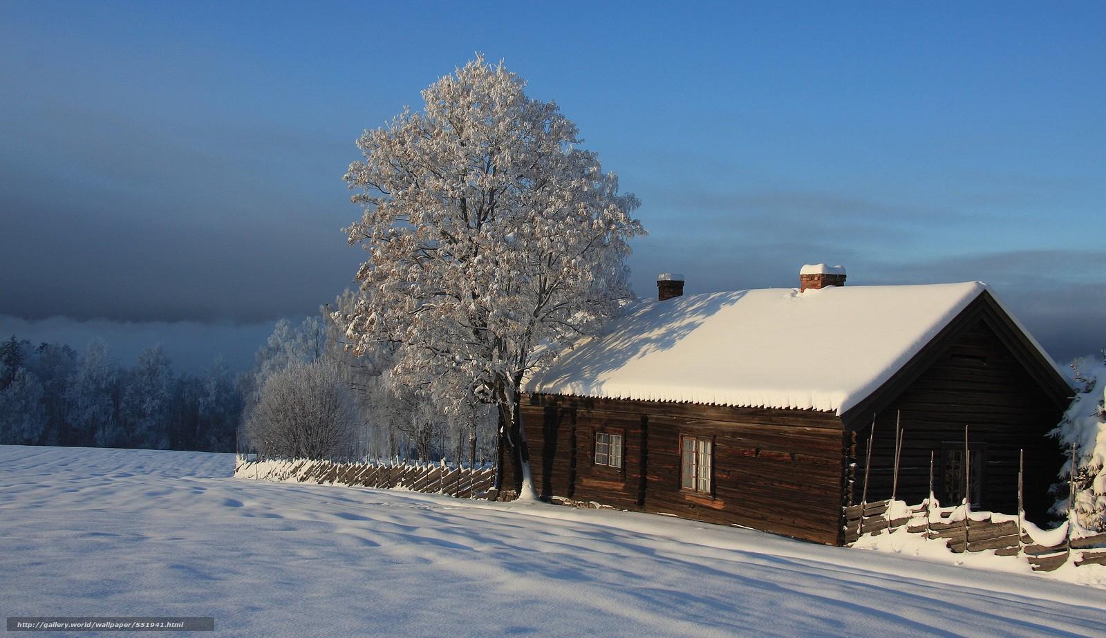 tlcharger fond d 39 ecran hiver maison arbres paysage fonds d 39 ecran gratuits pour votre. Black Bedroom Furniture Sets. Home Design Ideas