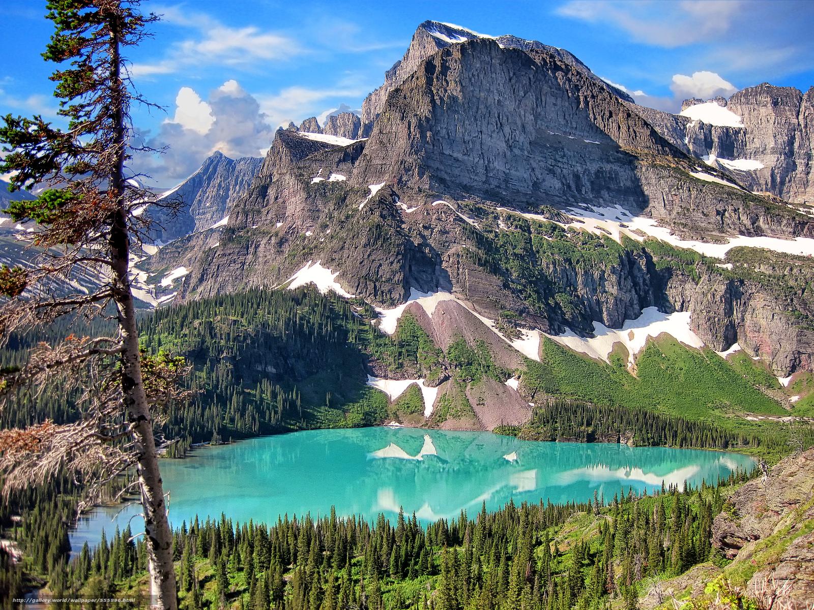 download wallpaper glacier national park mountains lake
