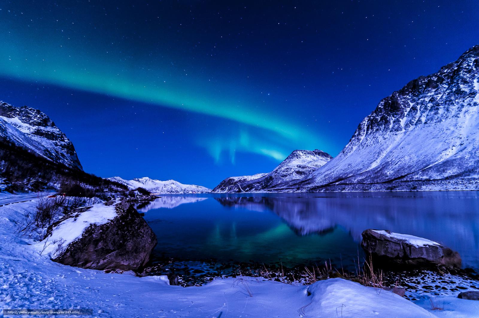 Scaricare gli sfondi cielo notte inverno islanda sfondi for Sfondi desktop aurora boreale