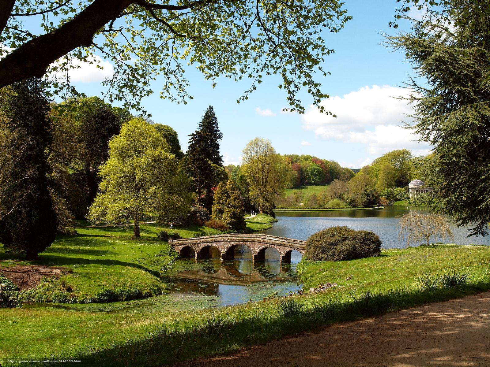 Download Wallpaper Stourhead Garden Wiltshire England