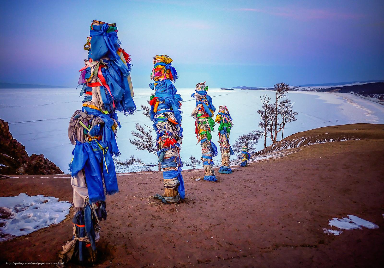 Download Hintergrund Schamane Rock Pol, Olchon, Island Lake Baikal ...
