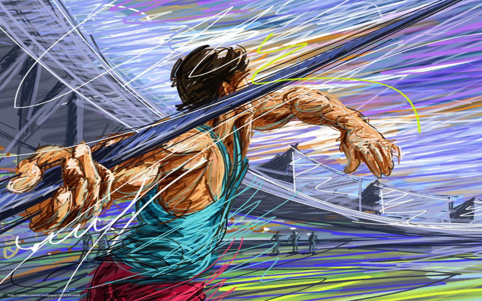 Baixar Wallpaper lança,  atleta,  desenho,  atletismo Papis de parede grtis na resoluo 1920x1200 — quadro №573749
