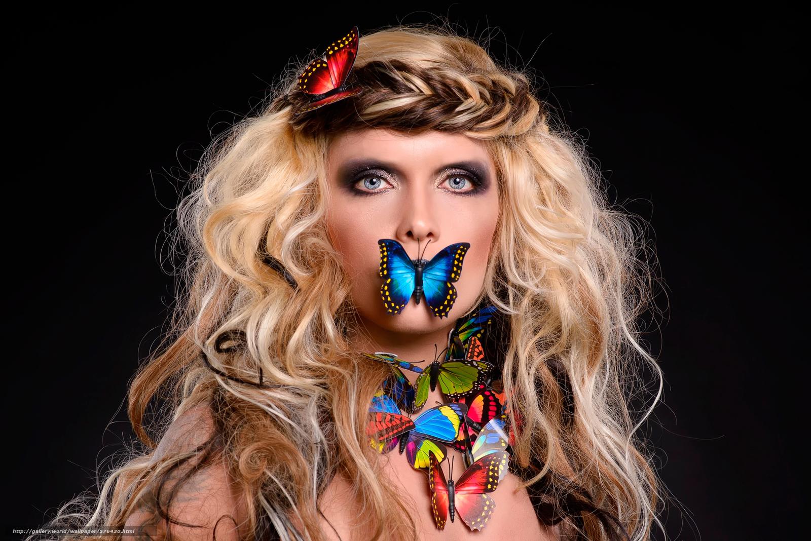 Tlcharger fond d 39 ecran papillons portrait bas sur le for Fond ecran portrait