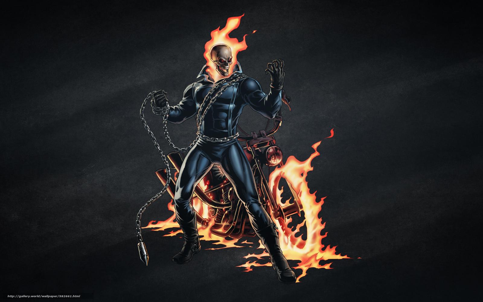 Wallpaper Motorcycle Chain Fire SKELETON Free Desktop