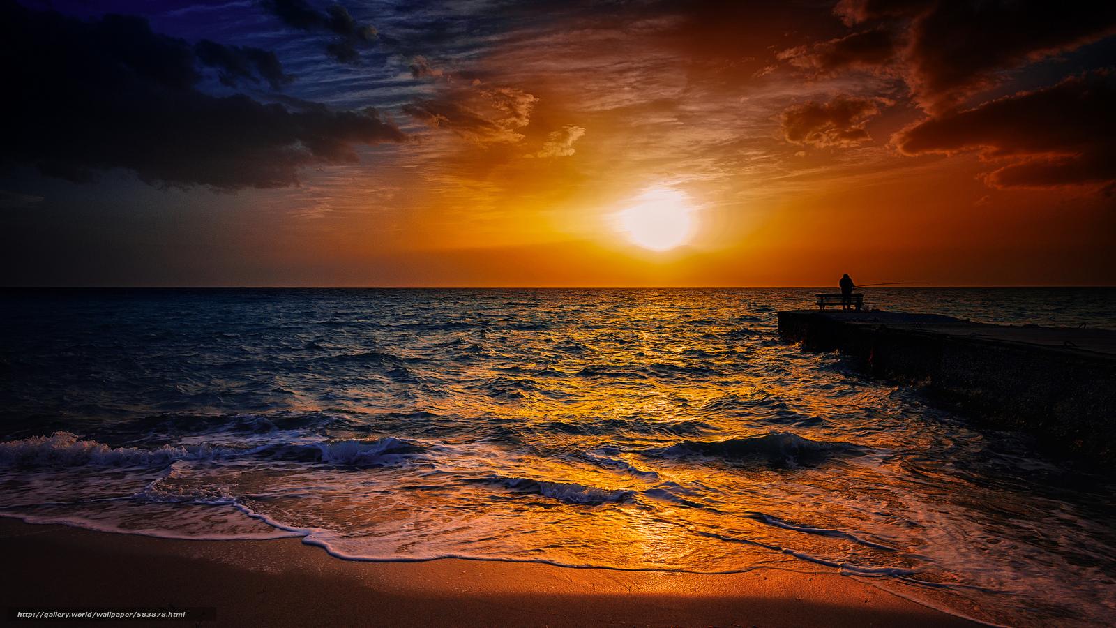 下载壁纸 皮亚士, 太阳, 海, 渔 免费为您的桌面分辨率的壁纸 2048x1