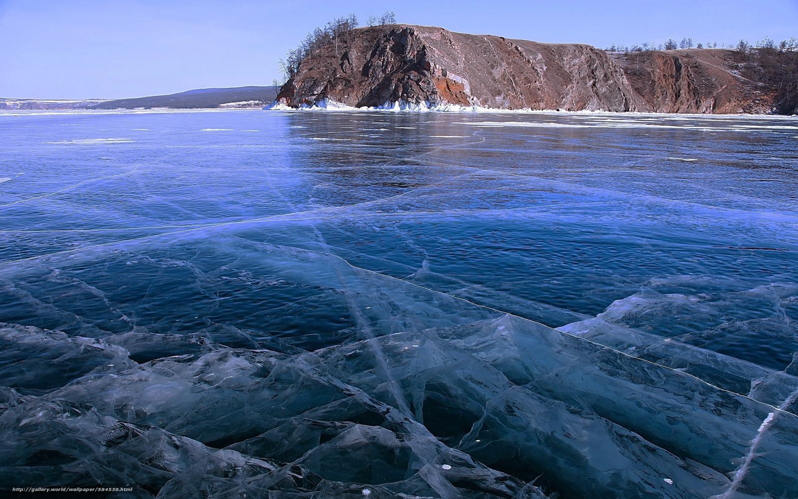 Baikal natur eis landschaft see winter