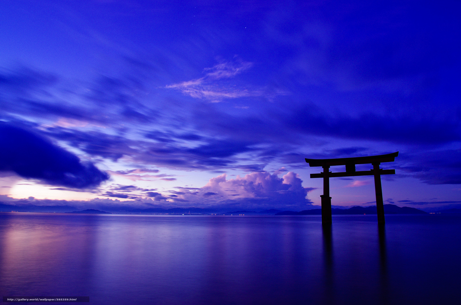 下载壁纸 天空, 门, 日本, 鸟居 免费为您的桌面分辨率的壁纸 2048x1
