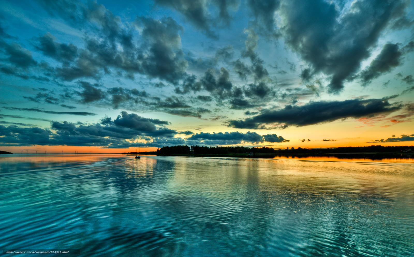 下载壁纸 天空, 船, 海湾, 云 免费为您的桌面分辨率的壁纸 4034x2506