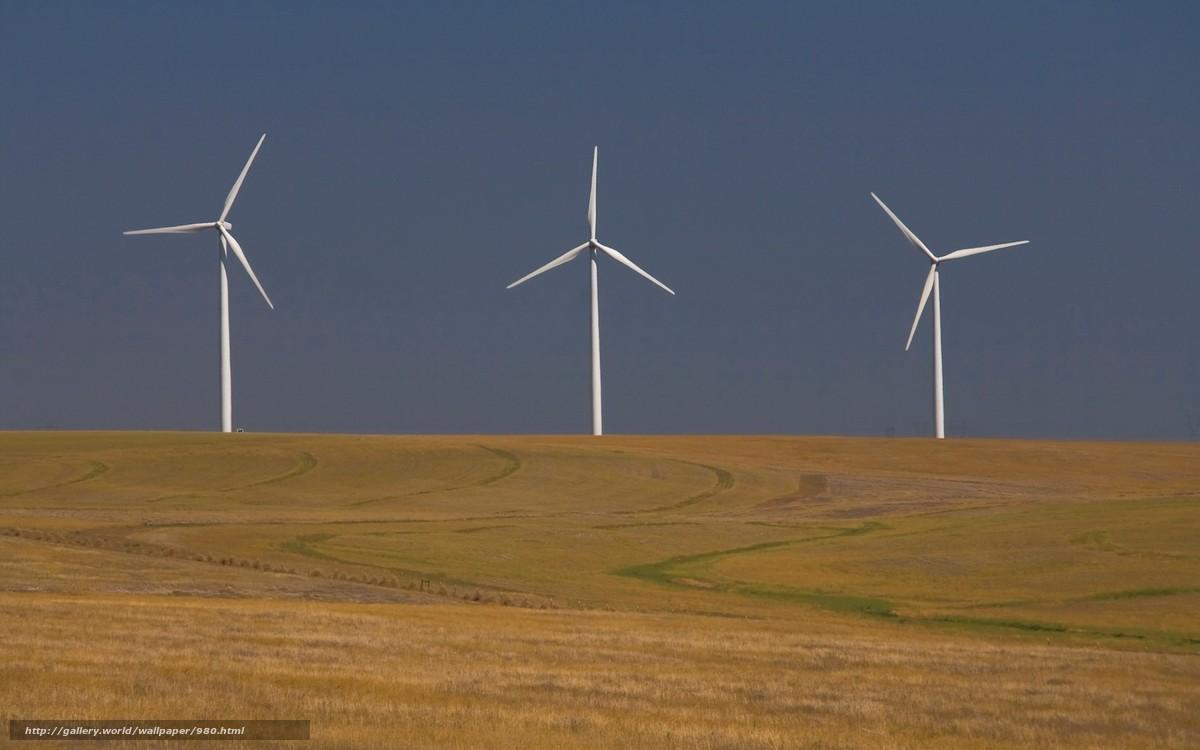 Descargar gratis molino de viento, campo, crepsculo Fondos ...