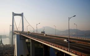machinery, bridge, road
