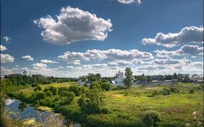 Pokrovsky Monastery, river, summer