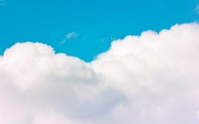 chmury, lazur, parowy, Kluby, niebo