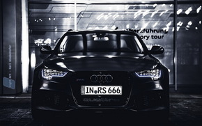 Audi, black devil, RS6, audi