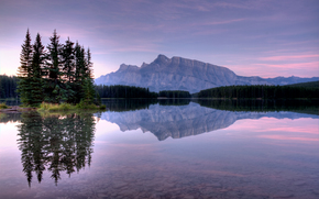 landscape, Banff National Park, Two Jack Lake