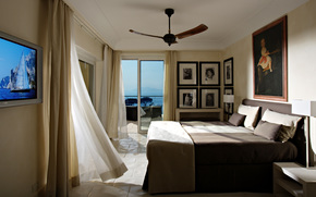 BEDROOM, balcony, home, interior, style, design, room, villa