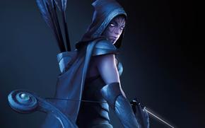archer, Bow, girl, arrows, dota_2, hunter
