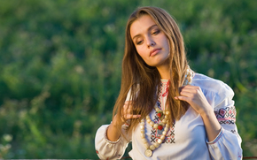 ukrainan girl, dress, beautiful