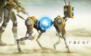 ReCore, робот, девушка, песок, пустыня