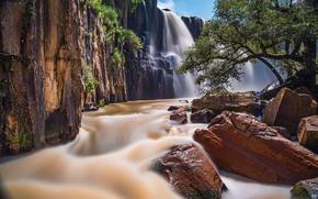 Cascada de la Concepcion, Aculco, Mexico, Акулько, Мексика, водопад, каскад, река, камни