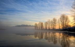 Misty Morning Mountain, Pitt Meadows, British Columbia, Canada