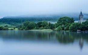 Loch Lomond, Scotland, озеро Лох-Ломонд, Шотландия, озеро, туман