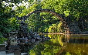 Kromlauer Park, Devil's Bridge, Germany