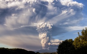 Calbuco Volcan, Chile, peisaj