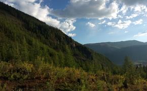 nature, Mountains, sky