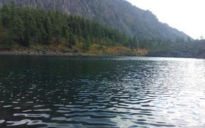 water, lake, Mountains