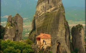 Griechenland, Meteora Kloster, landscape